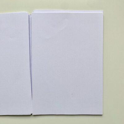 Das hier ist ein leeres Papier, es zeigt, wie die b-seite ohne Inhalt aussieht.